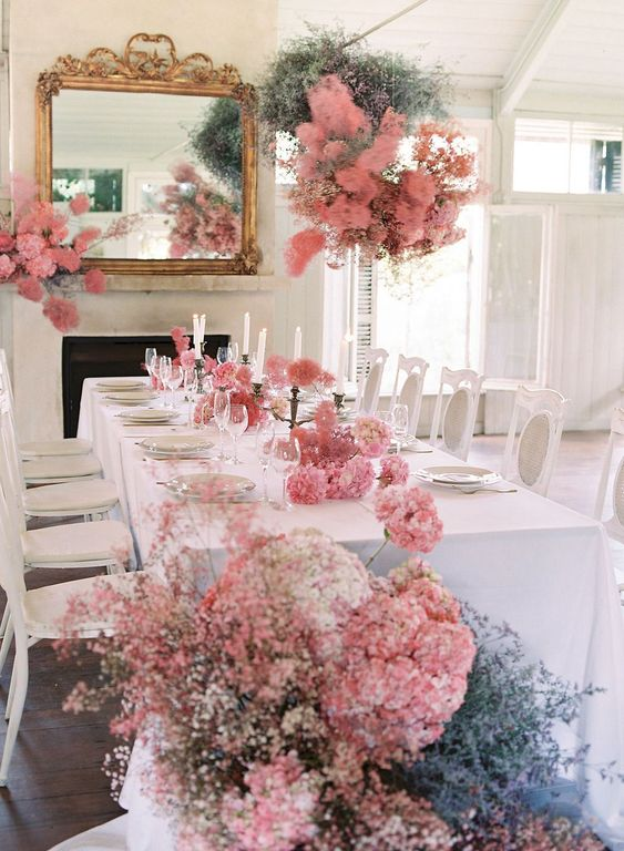 Inspirational Flower Decor Ideas for Reception by Rachel Clingen