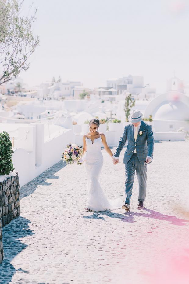 Santorini magical wedding