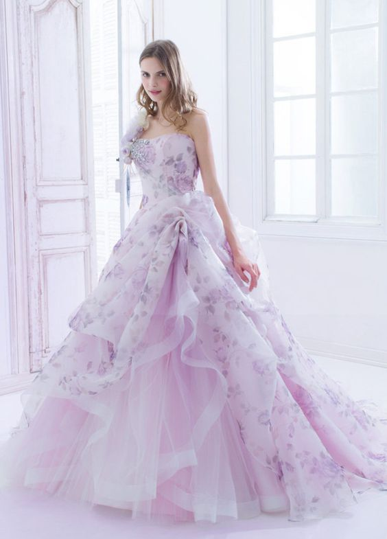 lilac wedding dress