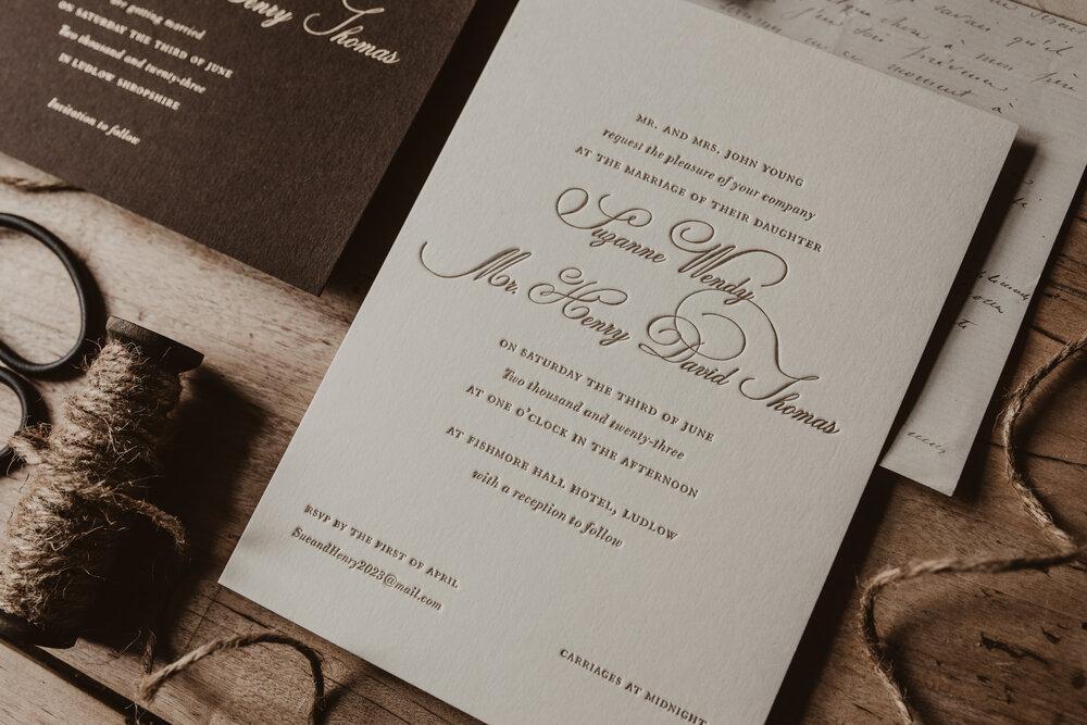 Artcadia's Wedding Invitation