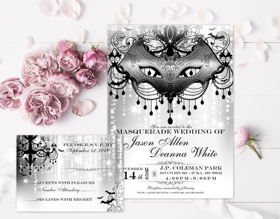 Ruth Kaye's 'Five Shades of Grey' invitation